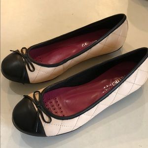 Sole Therapy  Blush Pink and Black Ballet Flats 7